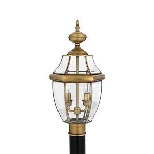 Quoizel 2-Light Newberry 21-in Antique Brass Post Light