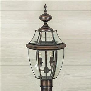 Quoizel 2-Light Millhouse 21-in Aged Copper Post Light