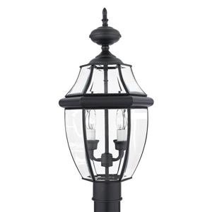 Quoizel 2-Light Newberry 21-in Mystic Black Post Light