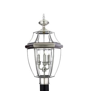 Quoizel Newbury 21-in Pewter Post Light