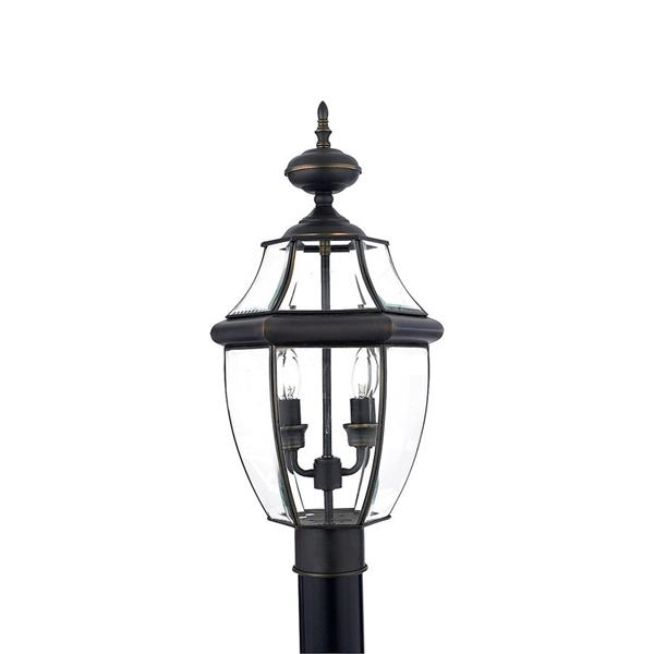 Quoizel 2-Light Newberry 21-in Medici Bronze Post Light