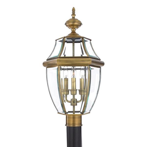 Quoizel Newberry 23-in Antique Brass Post Light