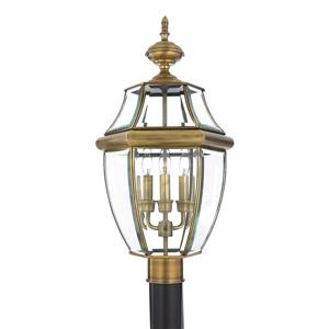 Quoizel Newberry 23-in Antique Brass Post Light