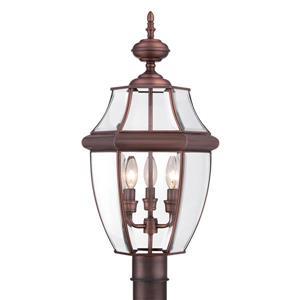 Quoizel 3-Light Newberry 23-in Copper Post Light