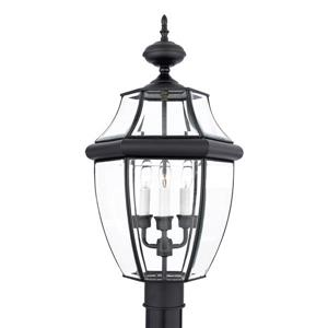 Quoizel 3-Light Newberry 23-in Mystic Black Post Light