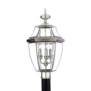 Quoizel 3-Light Newberry 23-in Pewter Post Light