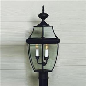 Quoizel 4-Light Newberry 29.5-in Mystic BlackPost Light