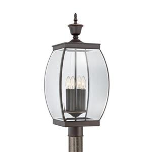 Quoizel Oasis 26.5-in Medici Bronze Post Light