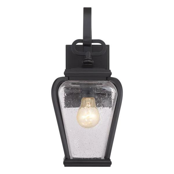 Quoizel Province 15.5-in Mystic Black Medium Base Outdoor Sconce