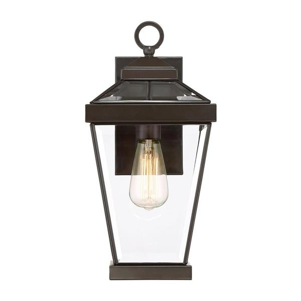 Quoizel Ravine 16.25-in H Western Bronze Medium Base (E26) Outdoor Wall Light