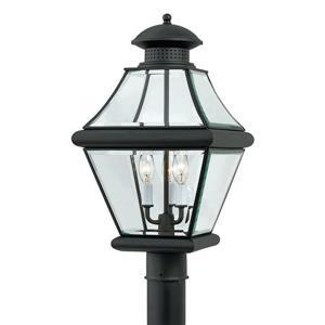 Quoizel 3-Light Rutledge 20-in Mystic Black Post Light