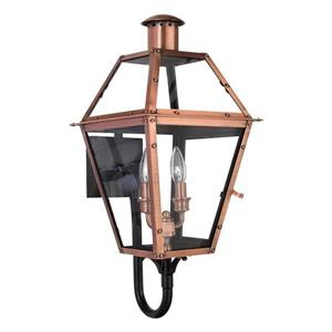 Quoizel Charleston 23.5-in Aged Copper Candelabra Base 2-Light Outdoor Wall Sconce