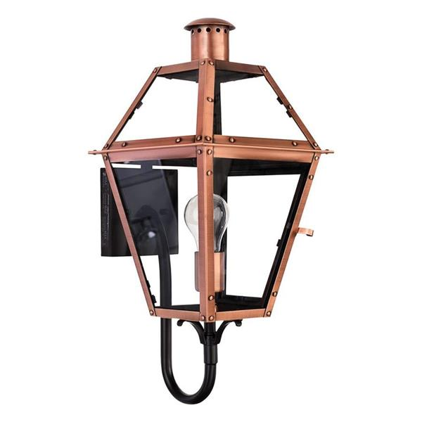 Quoizel Rue De Royal 20.5-in Aged Copper Medium Base Outdoor Wall Sconce