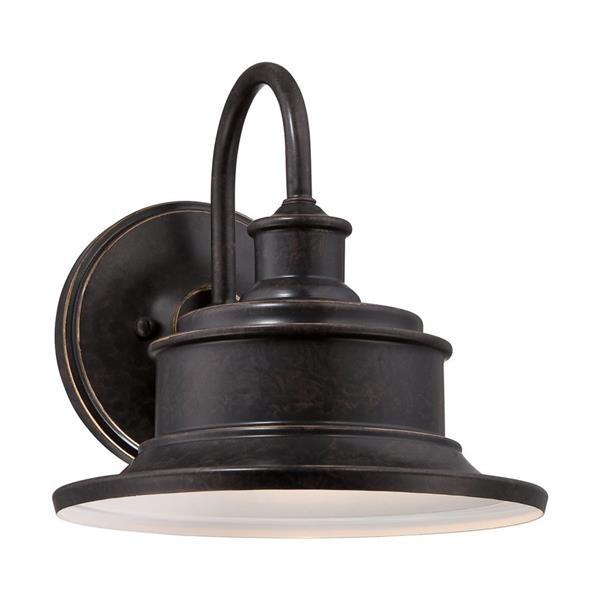 Quoizel Seaford 11-in Imperial Bronze Medium Base Outdoor Wall Sconce