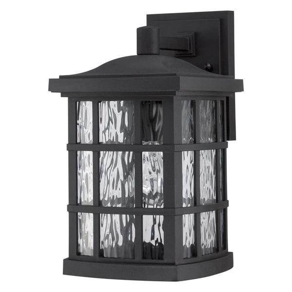 Quoizel Stonington 13-in Mystic Black Medium Base LED Outdoor Wall Lantern