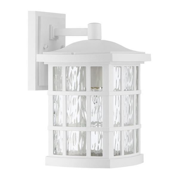 Quoizel Stonington 13-in Fresco Medium Base LED Outdoor Wall Lantern