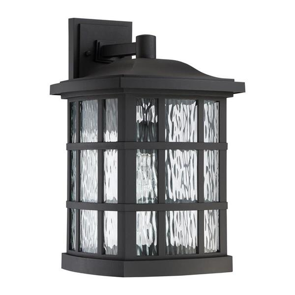 Quoizel Stonington 17-in Matte Black Outdoor Wall Light