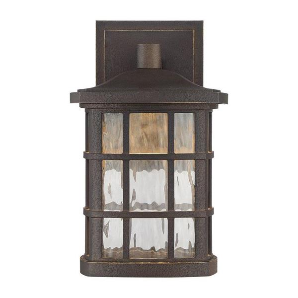 Quoizel Stonington 10.5-in Mystic Black LED Outdoor Wall Lantern