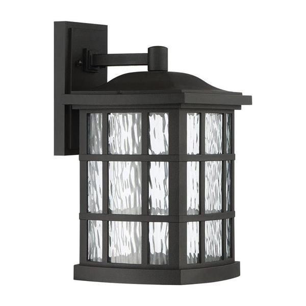 Quoizel Stonington 15-in Mystic Black LED Outdoor Wall Light