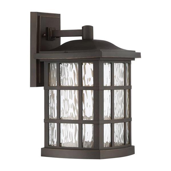 Quoizel Stonington 15-in PalladianBronze LED Outdoor Wall Light