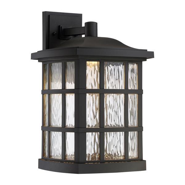 Quoizel Stonington 17-in Matte Black LED Outdoor Wall Light