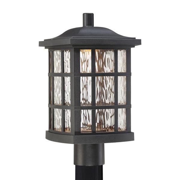 Quoizel Stonington 16-in H Mystic Black LED Post Light