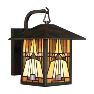 Quoizel Inglenook 11.75-in Single Light Tiffany Style Outdoor Wall Light