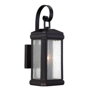 Quoizel Trumbull 14-in Mystic Black Outdoor Wall Light