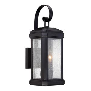 Quoizel Trumbull 18-in Mystic Black 2-Light Outdoor Wall Light