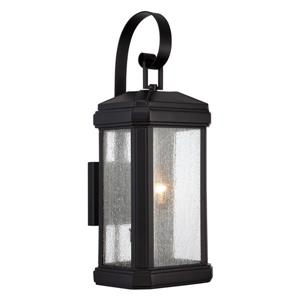 Quoizel Terrace 22-in Mystic Black Outdoor Wall Light