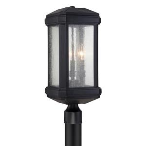 Quoizel Trumbull 21.5-in Mystic Black Post Light