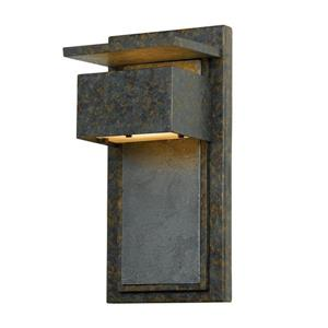 Quoizel Zephyr 14-in Muted Bronze Dark Sky Mini Candelabra Base Outdoor Wall Sconce