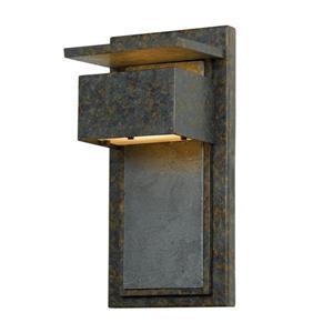 Quoizel Zephyr 14-in Muted Bronze Dark Sky Mini Candelabra Base Outdoor Wall Sconce