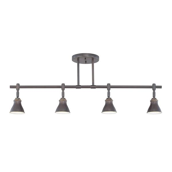 Quoizel 36-in Palladian Bronze 4-Light Dimmable Fixed Track Lighting Kit