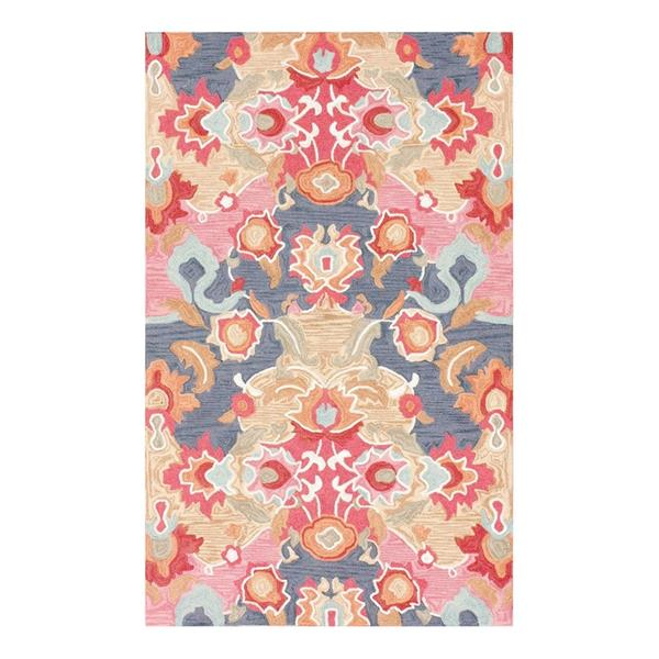nuLOOM Tropical 4-ft x 6-ft Multi-Colored Rectangular Indoor Handcrafted Area Rug