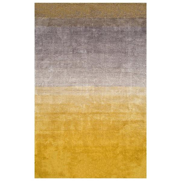 nuLOOM Ombre Shag 5-ft x 8-ft Rectangular Yellow Indoor Area Rug