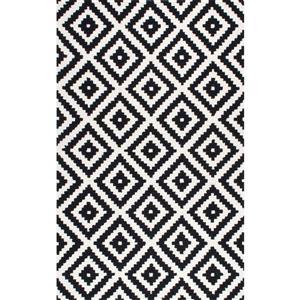 nuLOOM Varanas 5-ft x 8-ft Rectangular Black Indoor Area Rug