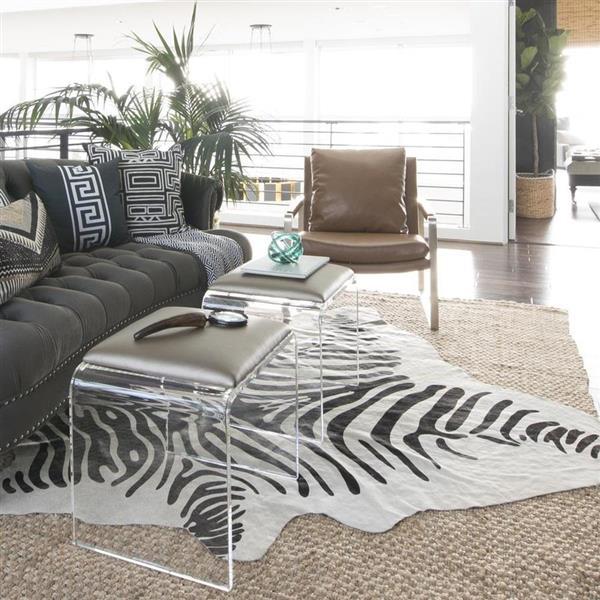 nuLOOM Hides 5-ft x 7-ft Rectangular White Cowhide Area Rug
