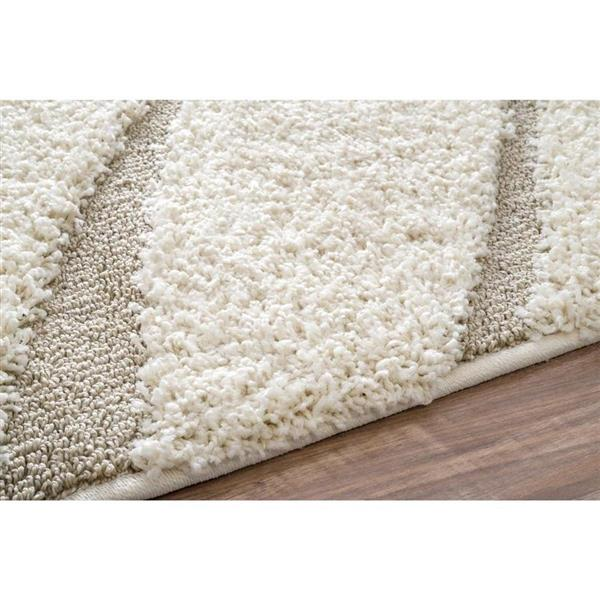nuLOOM 6-ft x 9-ft Cream Handcrafted Area Rug