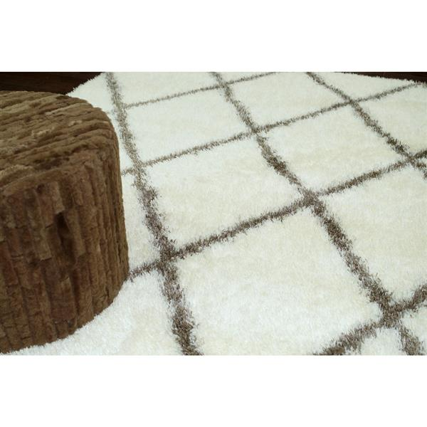 nuLOOM Shag 5-ft x 8-ft Rectangular Brown Diamond Area Rug