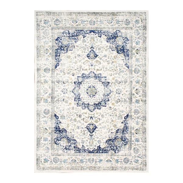 nuLOOM Bodrum 5-ft x 7-ft Rectangular Blue Indoor Oriental Area Rug