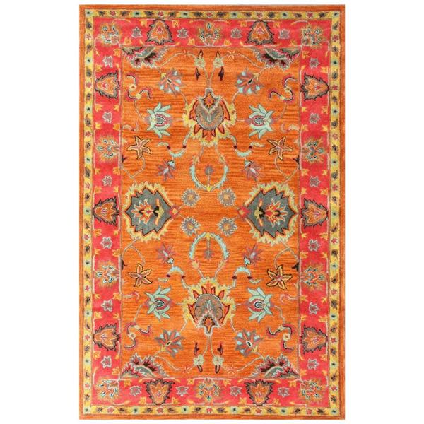 nuLOOM 8-ft x 10-ft Multi-Colored Rectangular Indoor Handcrafted Area Rug