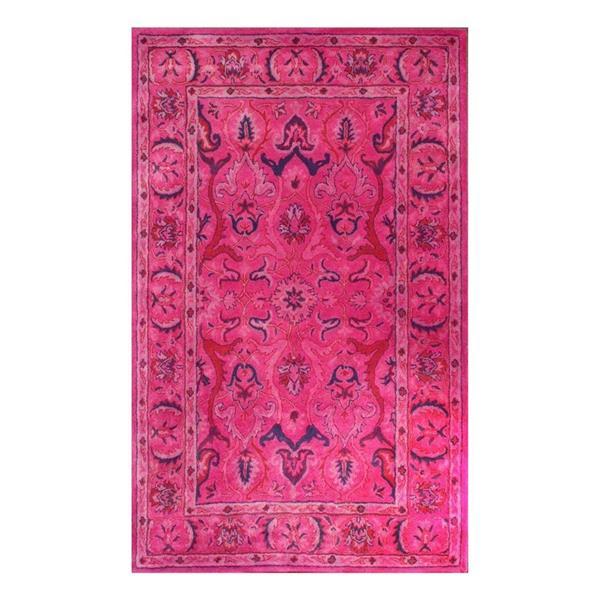 nuLOOM Kimberly 5-ft x 8-ft Rectangular Pink Indoor Area Rug