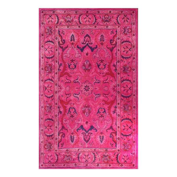 nuLOOM Kimberly 6-ft x 9-ft Rectangular Pink Indoor Area Rug