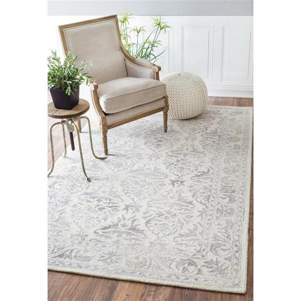 nuLOOM Krause 5-ft x 8-ft Light Grey Hand Looped Area Rug