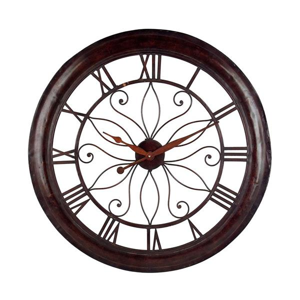 IMAX Worldwide 30.25-in Brown Analog Round Indoor Wall Clock