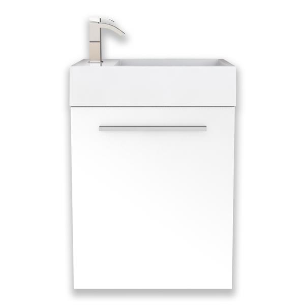 """Meuble-lavabo Boutique de Cutler Kitchen & Bath, 18"""", blanc"""