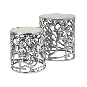 Imax Worldwide Daltry 2-Piece Aluminum Accent Table Set