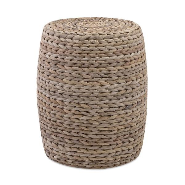 IMAX Worldwide 20-in x 14.5-in Natural Round Banana Leaf Ottoman