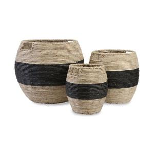 IMAX Worldwide 13.25-in x 14.5-in Dorran Natural Black Maize Basket (3 Pack)